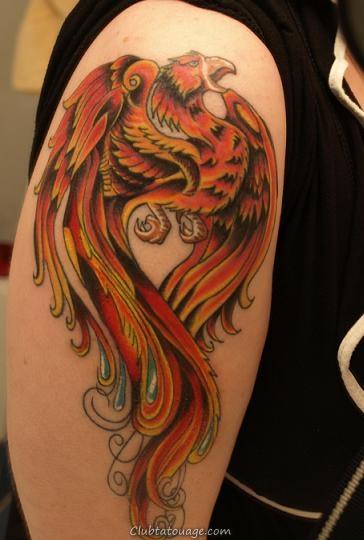 Phoenix Arm Tattoo Designs