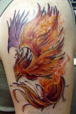 Phoenix oiseau Tattoo Designs