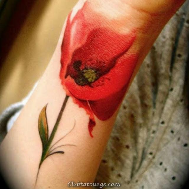 20 Tatouages Tulipes et son sens