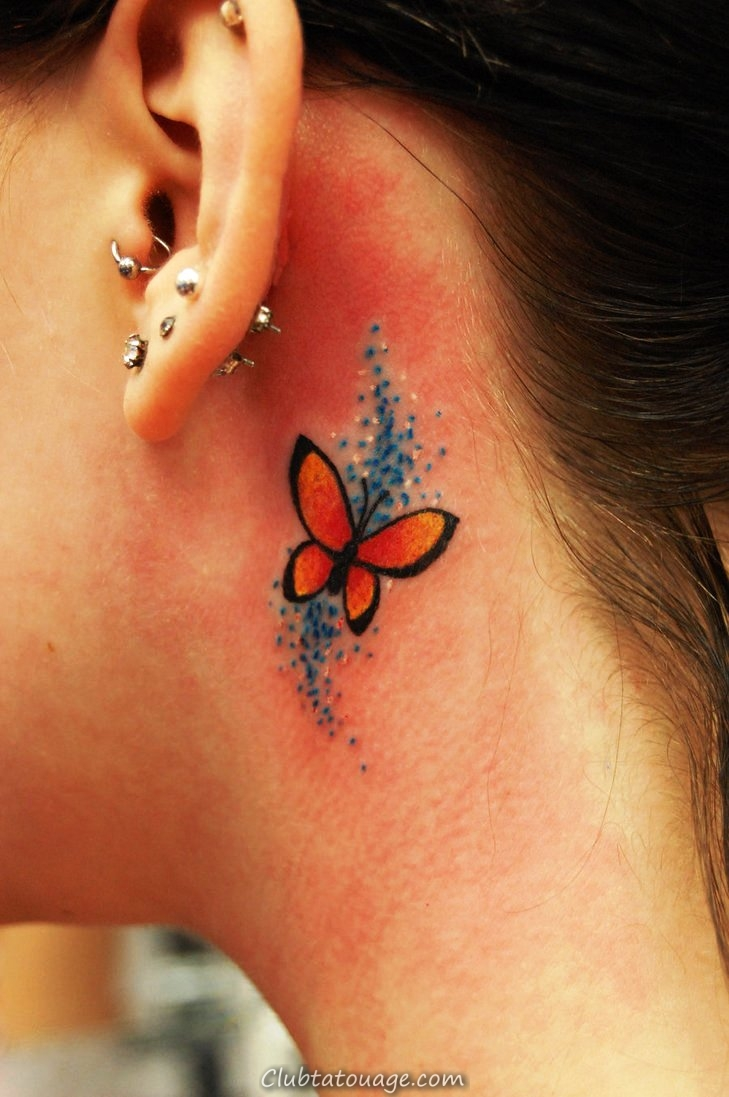 Petit -Butterfly-Tattoos-sur-Neck