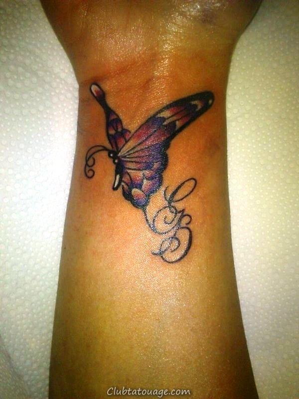 Petits-papillon-Montres-Tattoos