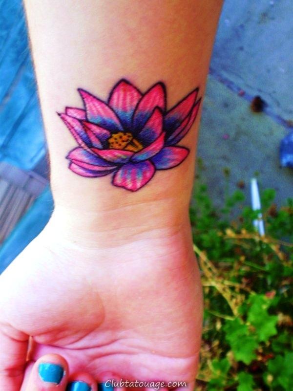 Petit-Lotus-fleur-Tattoo