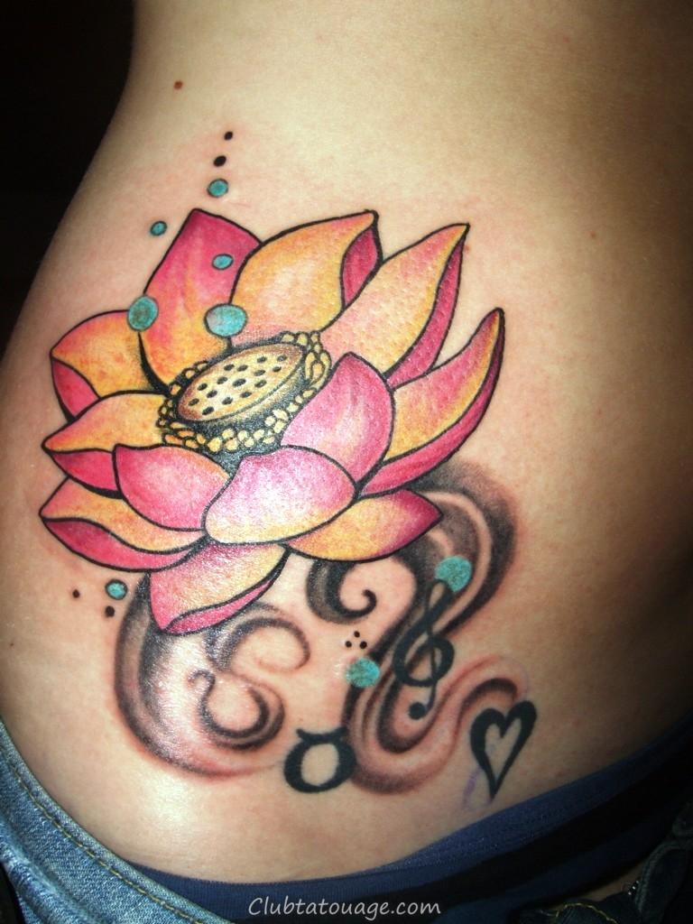Petit-Lotus-fleur-Tattoo-Designs