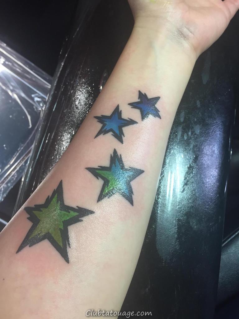 Incroyable Aquarelle étoiles Tatouages