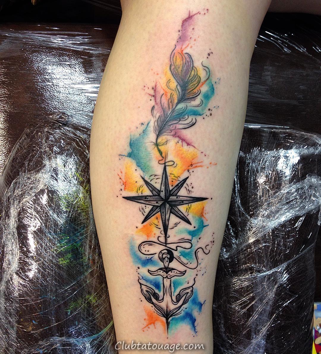 Tatouage sur Arm Aquarelle