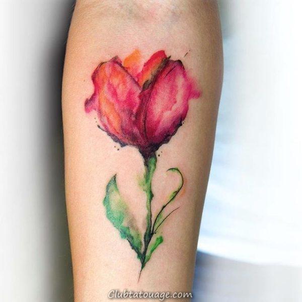 Tattoo Tulip Delicate 1