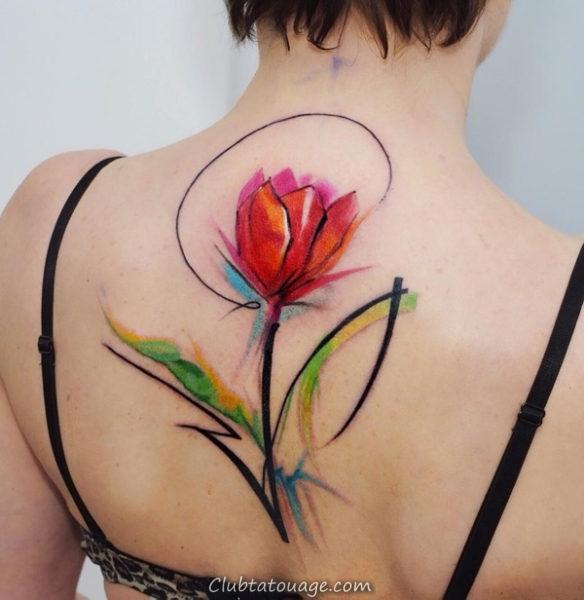 Tattoo Tulip Delicate 2