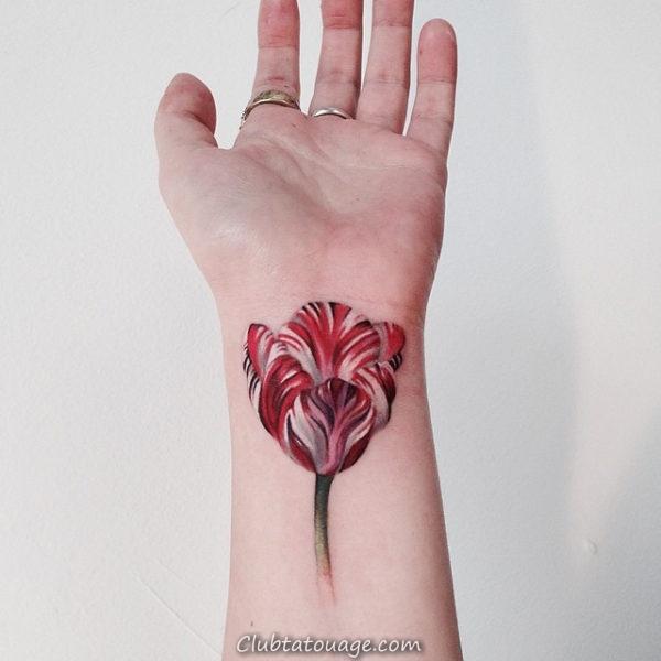 Tattoo Tulip Delicate 3