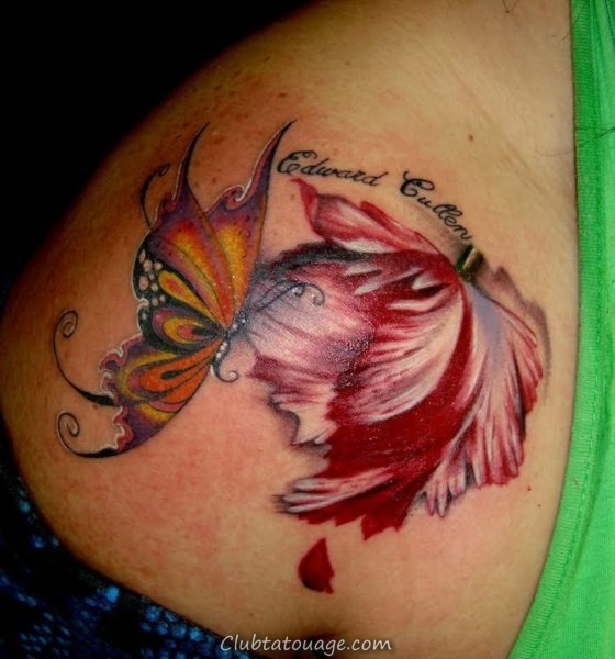 Tattoo Tulip Delicate 5
