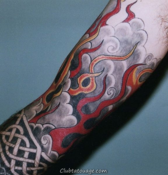 Tattoo Fire and Flames 5