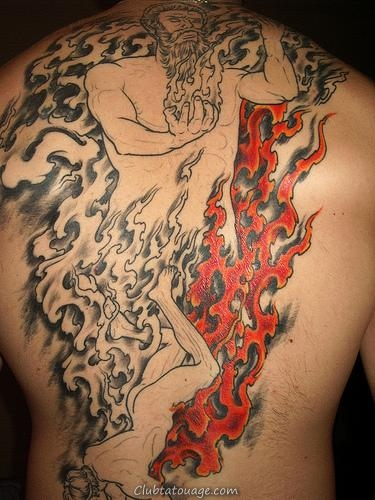 Tattoo Fire and Flames 6