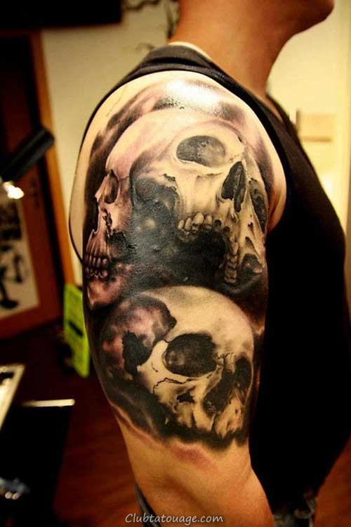 20 Photos Effrayant Skull Tattoos Awesome!