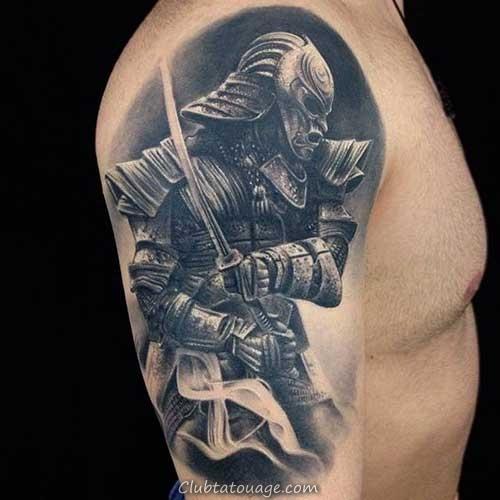 photo quoi. guerrier tatouage