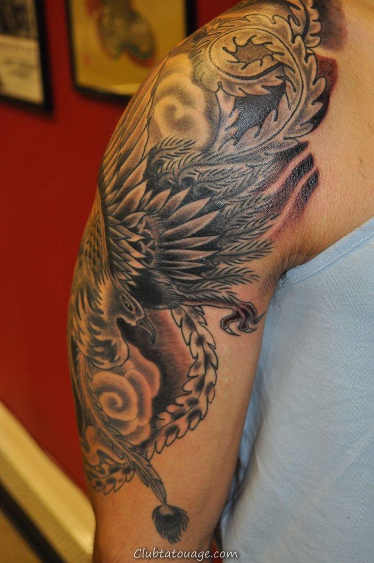 Ces manches demi conceptions de tatouage pour les hommes ange sont de style comme couvrant le bras de la