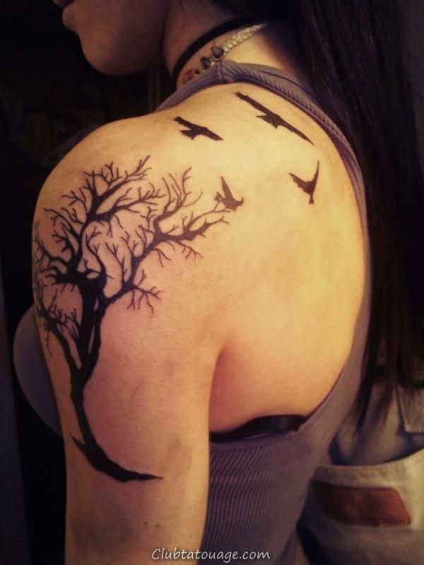 Arbre épaule Tattoo