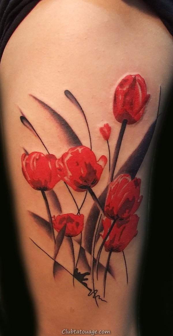 Tulip Flower Tattoo design