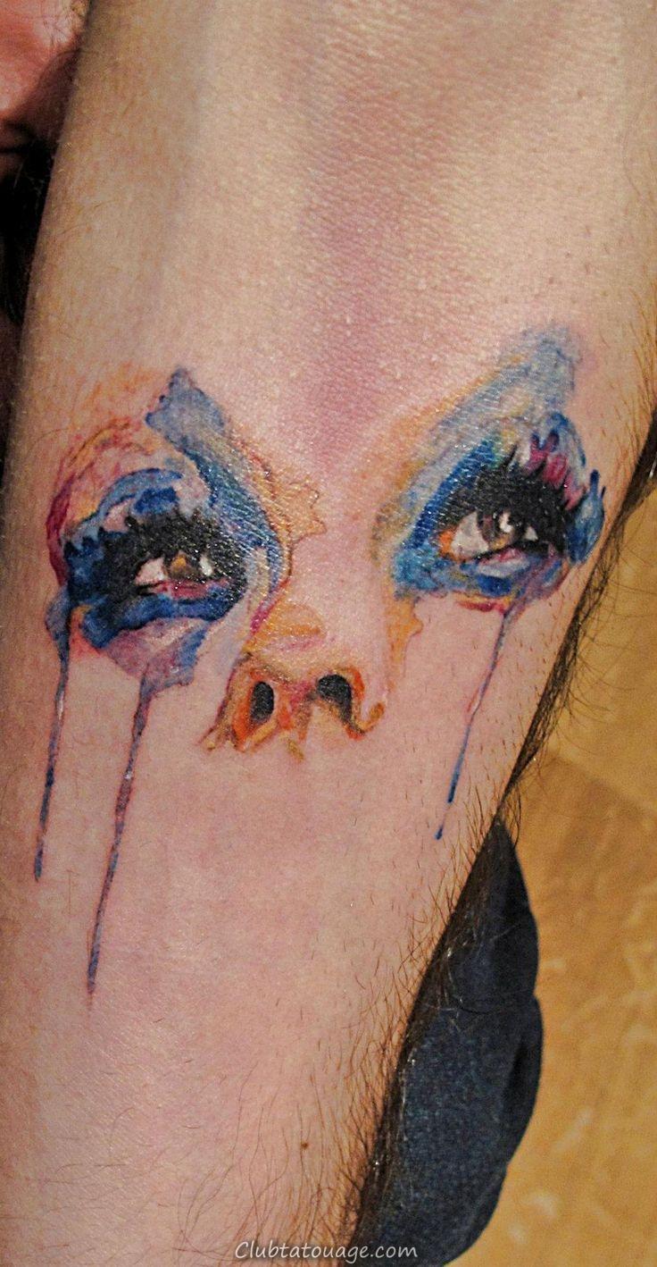 Aquarelle Pleurer Tattoo Eye
