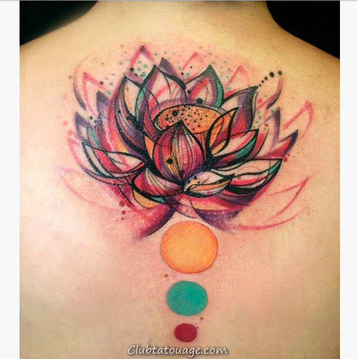 Aquarelle Flower Tattoo