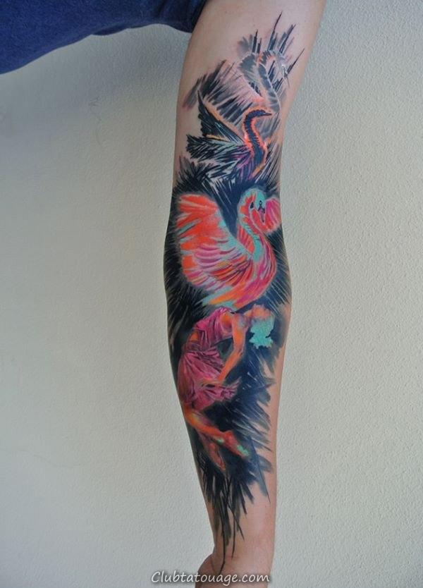 width Aquarelle manches Tattoo design