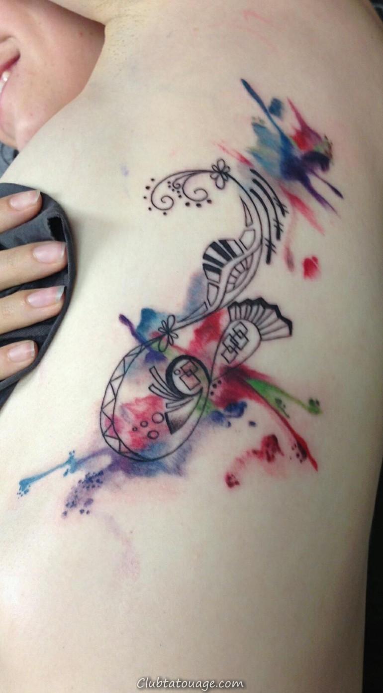 Aquarelle tatouages 