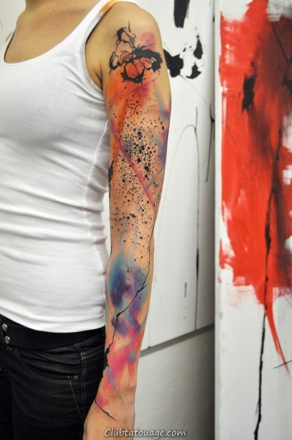 tatouages Aquarelle incorporent dynamique