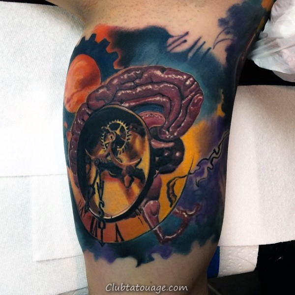 width Résumé Aquarelle Hommes Inner Arm Tattoos Avec Anchor