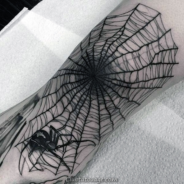 Ankle Araignée Tattoo Web For Men