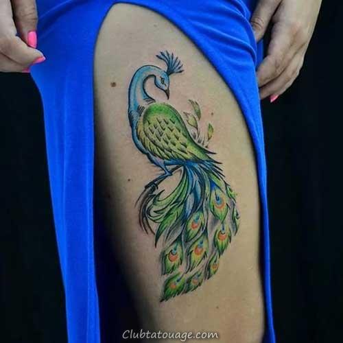 33 Photos tatouages de masculin et féminin Peacock!