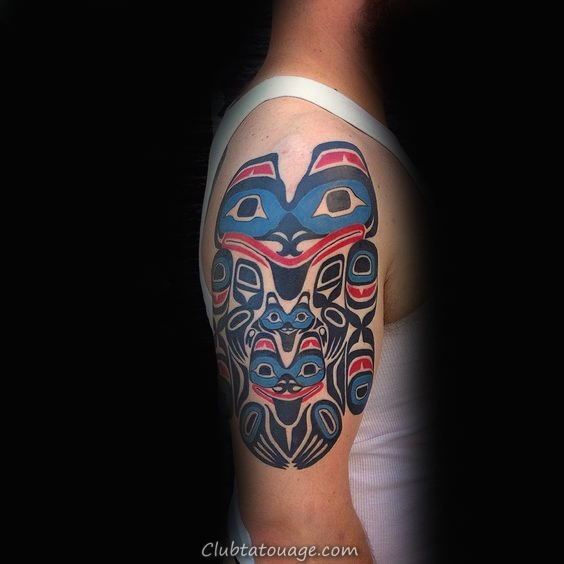 Bleu Rouge Haida Group Tattoo
