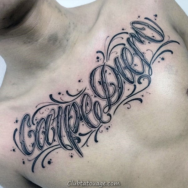 Cool Guys Ornement Script Tattoo Family Sur Inner Biceps Of Arm