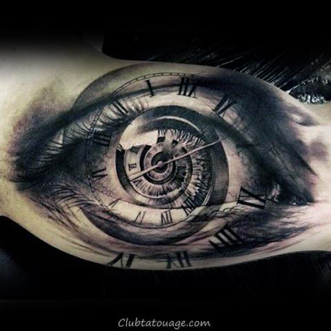 cool Inner Arm Skull Tattoos For Men