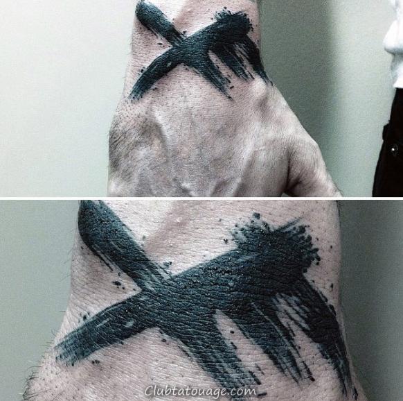 Cool Stroke Om Brush Aquarelle Homme Retour de l'épaule Tattoo