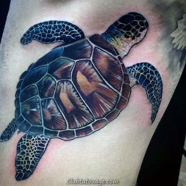 Cool Guys tribaux petite tortue tatouage Idées sur le dos de la jambe de veau