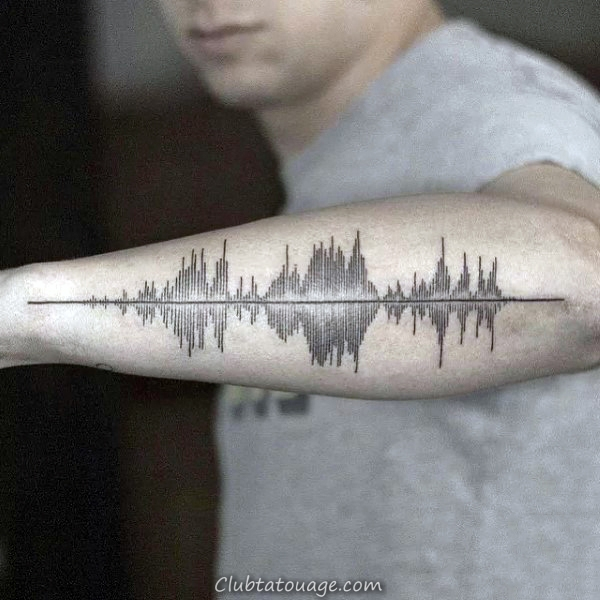 cool Outer Forearm Homme Soundwave Tatouages