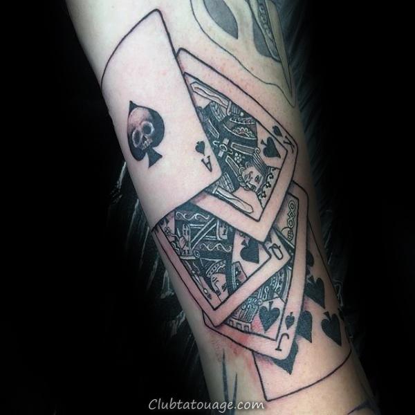 Carte de jeu Creative roi et la reine Forearm Tattoo Male