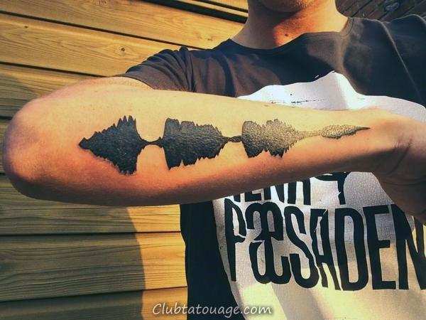 30 Tattoo Soundwave Designs For Men - Idées d'encre acoustique