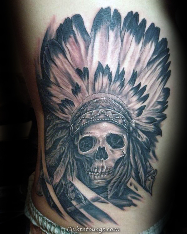 decorative-indian-skull-rib-cage-tattoos-for-guys