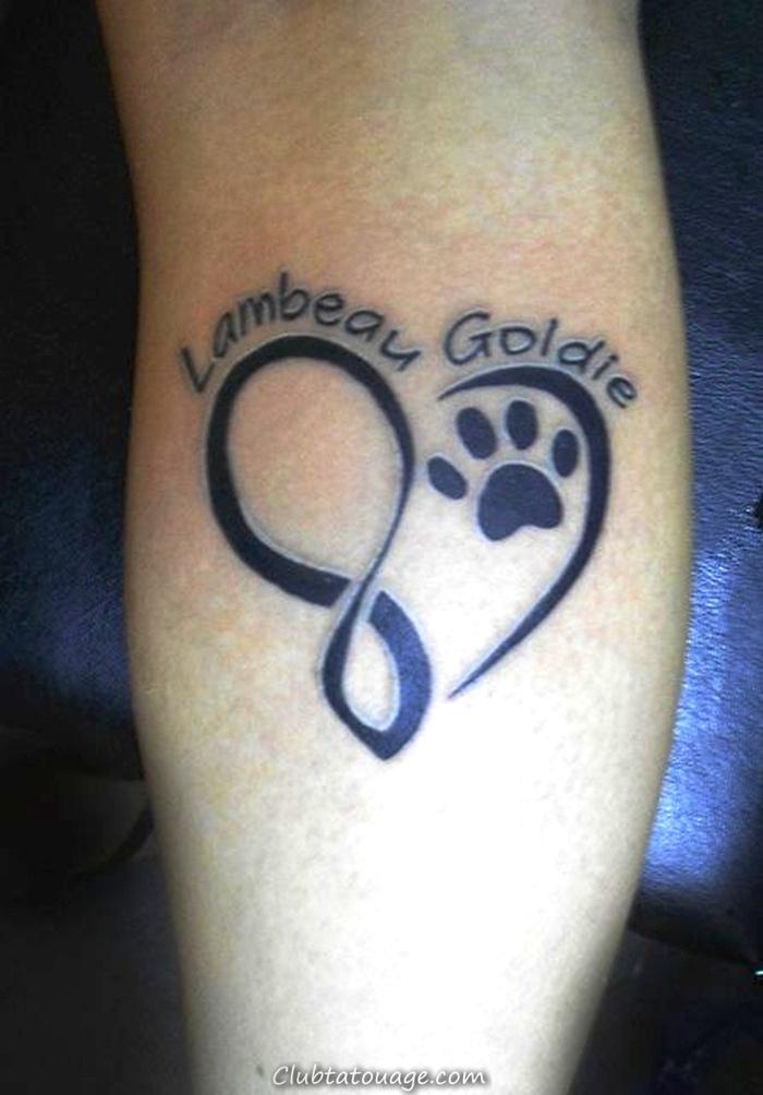 Assez 20 petits tatouages chien Idées, dessins et modèles » Club Tatouage NJ89