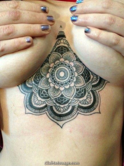 13 beaux tatouages sous les seins pour vous inspirer