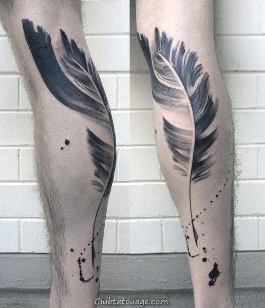 Full Arm Guys dragon Coup de pinceau noir d'encre de tatouage Idées
