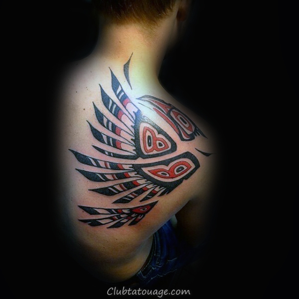 Feathered Haida Tattoo épaules Homme