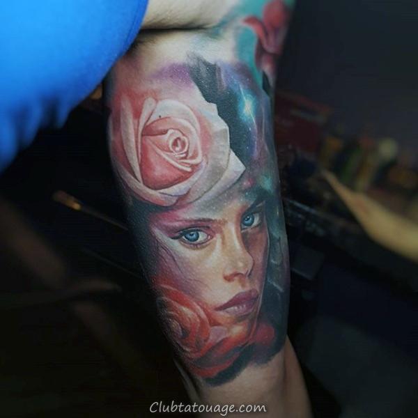 Globe Inner bras Hommes Tattoos