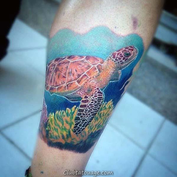 Full Back Hommes tortue Tattoo design Ideas tribal