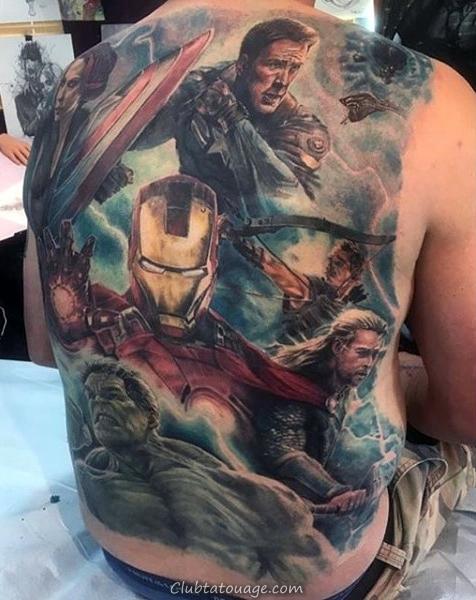 Gentleman Avec Tattoo Sleeve Captain America Forearm