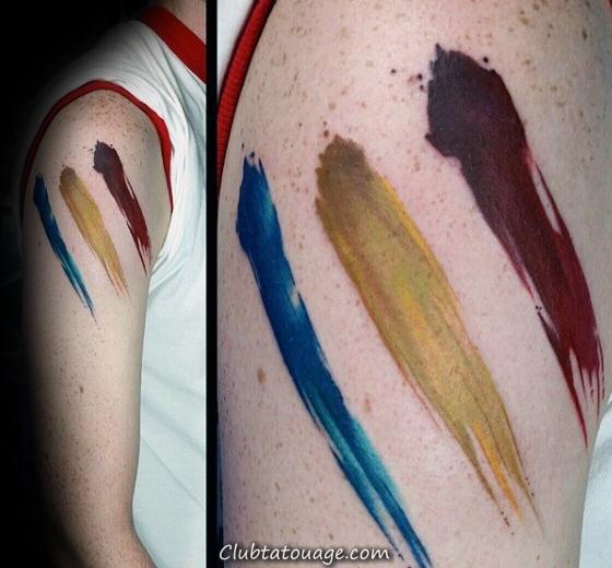 Inner Arm Tattoo Of Design Stroke Pinceau Gentleman