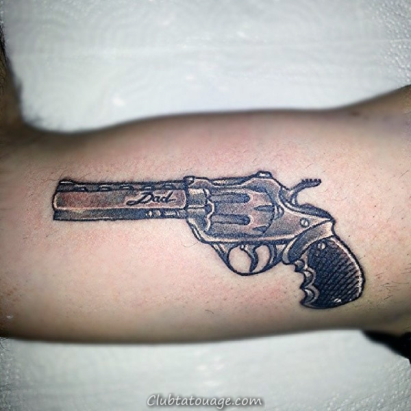 Gun Et papa Tattoo Male Arms
