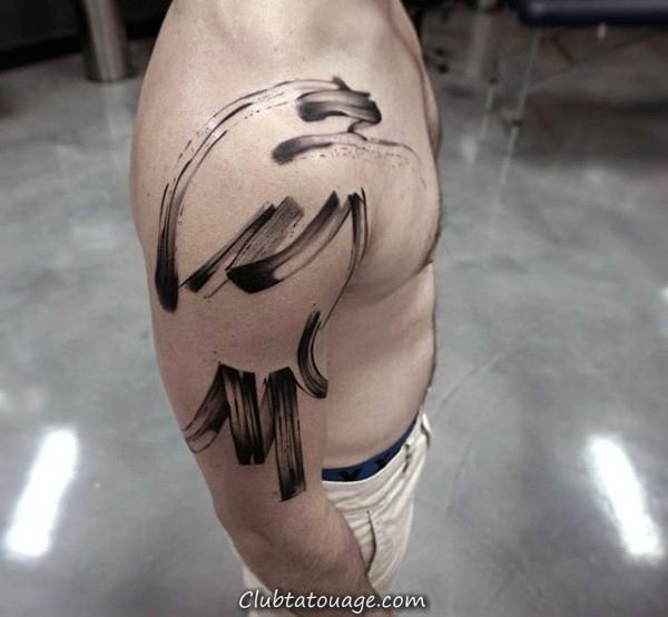 Tattoo Stroke Inner Forearm Mens Brush