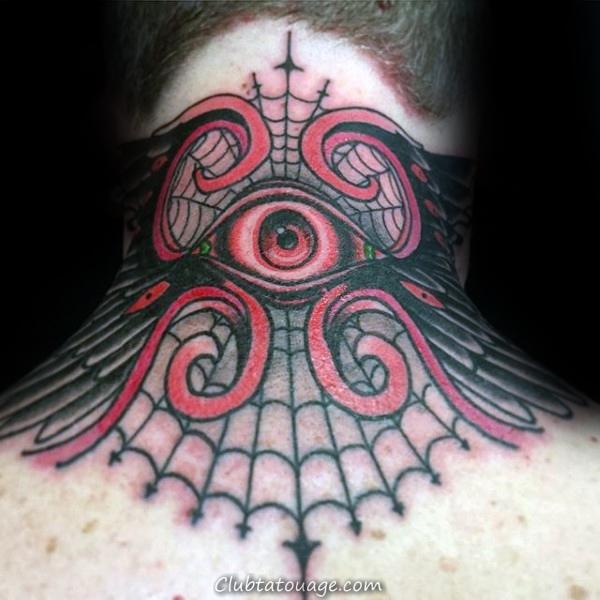 Half Sleeve Guys Araignée Web Lune Arm Tattoos