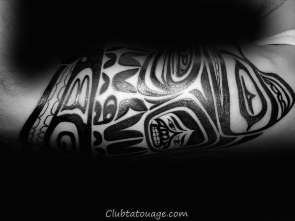 Les gars Haida avant-bras Tattoo