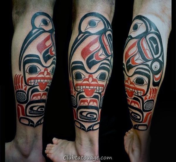 Jambes Guys Tattoo Déesse Haida
